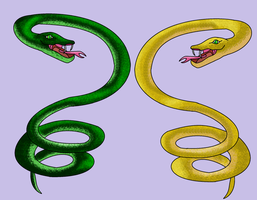 Realistic Snake Adoptables (Both Open) by starscreamfan10100