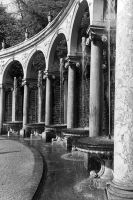France palace of Versailles Colonnade Grove 1970s by BlackWhitePictures
