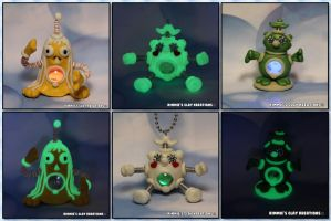 Polymer Clay Characters Glow Led by KIMMIESCLAYKREATIONS
