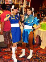 A-kon 20 Chun Li's by coffeejelly