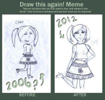Draw This Again Meme: Claire by Rubysnuff