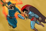 Captain Falcon v SuperMan by SeanMcFarland