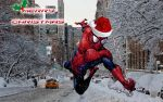 Christmas Spidey by stick-man-11