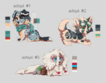 puppies adoptable 3 - AUCTION! by azzai