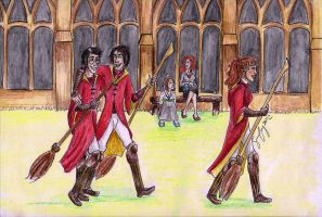 Back From Quidditch Practise by merrydisposition