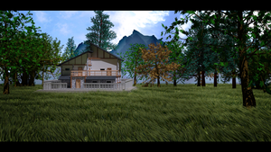 House Hidden in the Mountains by NAVeX-Sniper