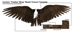 Custom DAZ Template  for Feathered Wings by HuntressLight