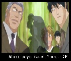 when boys sees yaoi by Ninja-Barro