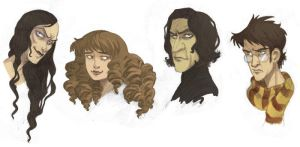 """Harry Potter"" Portraits by kyla79"