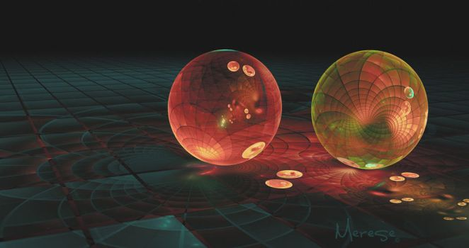Refracted Fractal - Duo by justravelin