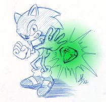 Sonic the Hedgehog sketch 02 by capitanusop