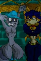 Sly and Carmelita in Dungeon by Virus-20