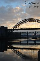 Newcastle Tyne Bridge by GrimmDaScream
