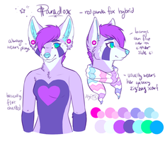 Paradox fursuit bust ref by AYRlA