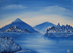 Blue forests in the winter by Myrskynmurtaja