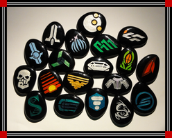 Mass Effect Stones, Part II by ChimeraDragonfang