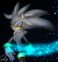 Silver hedgehog by zeldaprincessgirl100