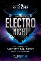 Electro Night Flyer Template by Dilanr