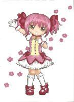 Chibi Madoka : Collab with Dawnie-Chan by ClaireRoses