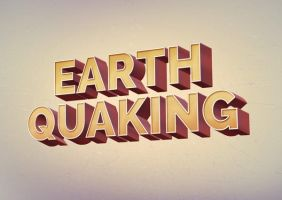 Earth Quaking Retro Text Effect by GraphicBurger