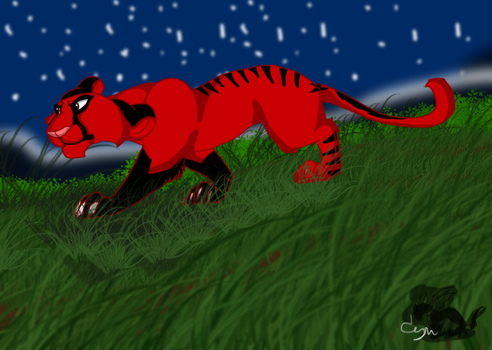 -Art Trade- Night-time prowl by Cynderthedragon5768