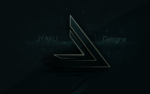 Personal Wallpaper with new Logo by JyakuDesigns