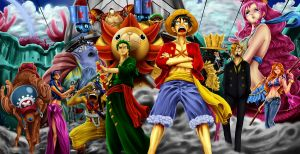 The Straw Hat Pirates by Vesaka
