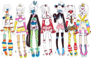 Cybergoth/Rave outfits -CLOSED- by bejja