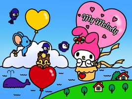 My Melody in Balloon (Coloring Book) by Kittykun123