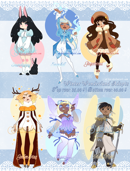 Adopts - Winter Wonderland [Closed] by Ai-Bee
