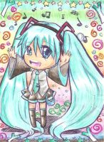 miku hatsune-chibi colored by BLEEDFan95