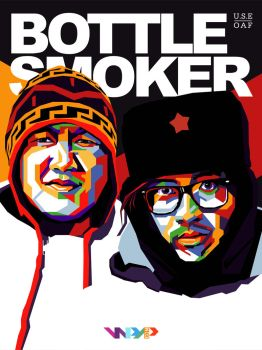 BOTTLE SMOKER in WPAP by Yusuf-Graphicoholic
