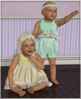 Frills and Spills - clothing pack for Baby Luna by Art-by-Lully