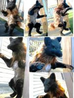 Dark Halloween Werewolf Wolf Anthro Plush Toy by Jarahamee
