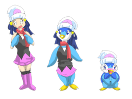 Dawn into Piplup by namida2wind