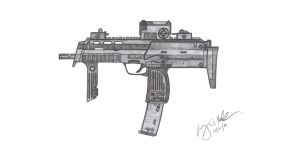 HK MP7A1 by CzechBiohazard