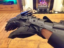 Lord of The Rings Witch King of Angmar gauntlet by terryhalstead