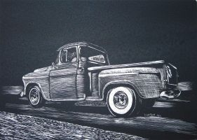 chevy Truck at the strip by HotRodJen