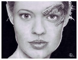 Jeri Ryan as Seven of Nine by ktalbot