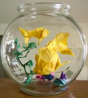Origami: Fishbowl by jazzeria