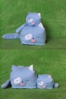 Mini cube-cat Toby by BlueDove415