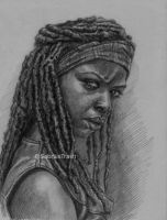 Michonne of The Walking Dead by Sabriiistrash