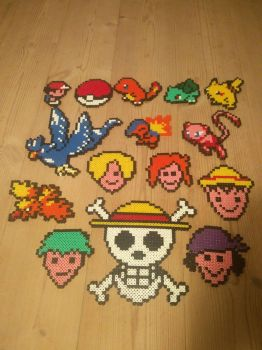 perler creation gift from unknown person ? :P by mininete