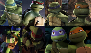 TMNT 2007 and 2012 by Venetia-the-Hedgehog