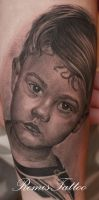 kids portrait tattoo 2 by Remistattoo