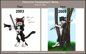 Character Development Meme by BluTwistar