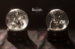 : PRE-ORDER~ crow inspired graveyard snowglobe : by BastardPrince