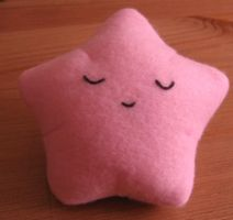 Sleeping Star Plush - Pink by Neoitvaluocsol