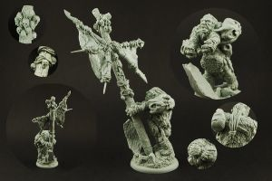 Extraordinary Ogre Banner Pen and Base by RistulsMarket