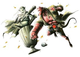 HELLBOY vs. THE BABBA YAGGA by RM73
